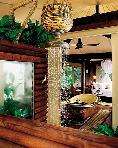 Four Seasons Tented Camp Golden Triangle, Thailand > Outdoor shower