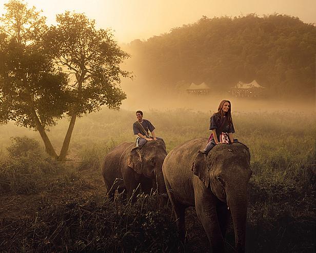 Four Seasons Tented Camp Golden Triangle, Thailand > Elephant trek