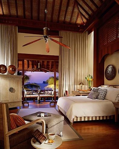 Four Seasons Resort Langkawi, Malaysia > Melaleuca pavilion bedroom.