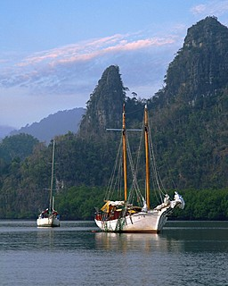 Four Seasons Resort Langkawi, Malaysia > Old sailboat. > Within easy reach of your Four Seasons guest room or suite are other options for sports or active enjoyment.